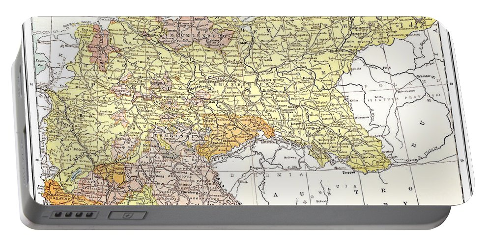 19th Century Portable Battery Charger featuring the photograph Map: German Empire by Granger