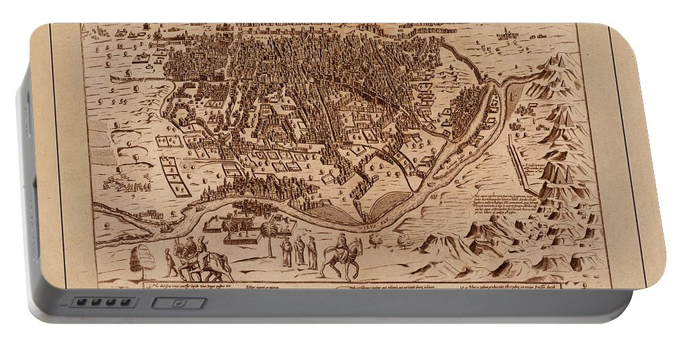 Cairo Portable Battery Charger featuring the photograph Map Of Cairo 1600 by Andrew Fare