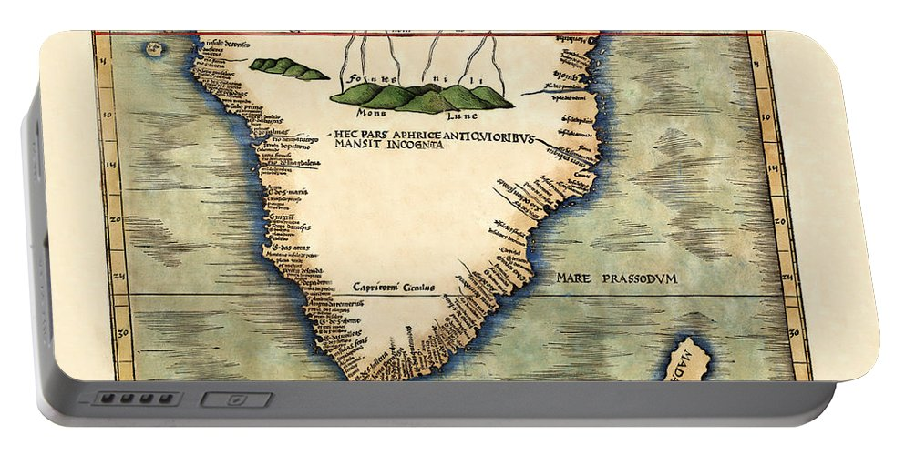 Map Of South Africa Portable Battery Charger featuring the photograph Map Of South Africa 1513 by Andrew Fare