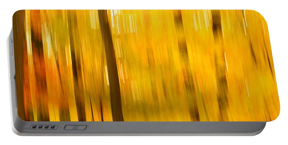 Abstract Photo Portable Battery Charger featuring the photograph Maple Magic by Bill Morgenstern