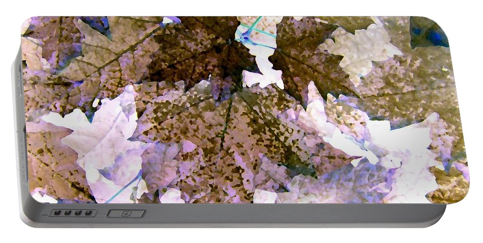 Maple Leaves Portable Battery Charger featuring the digital art Maple Mania 25 by Will Borden