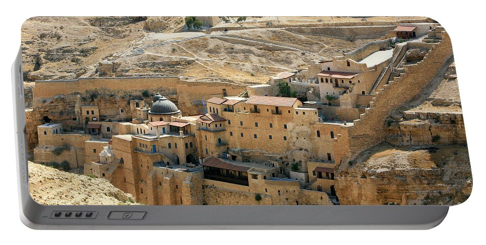 St Sabas Portable Battery Charger featuring the photograph Mar Saba by Chen Leopold