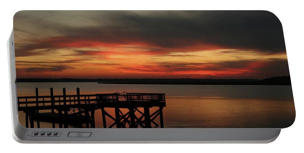 Sunset Portable Battery Charger featuring the photograph March Sunset by Phill Doherty