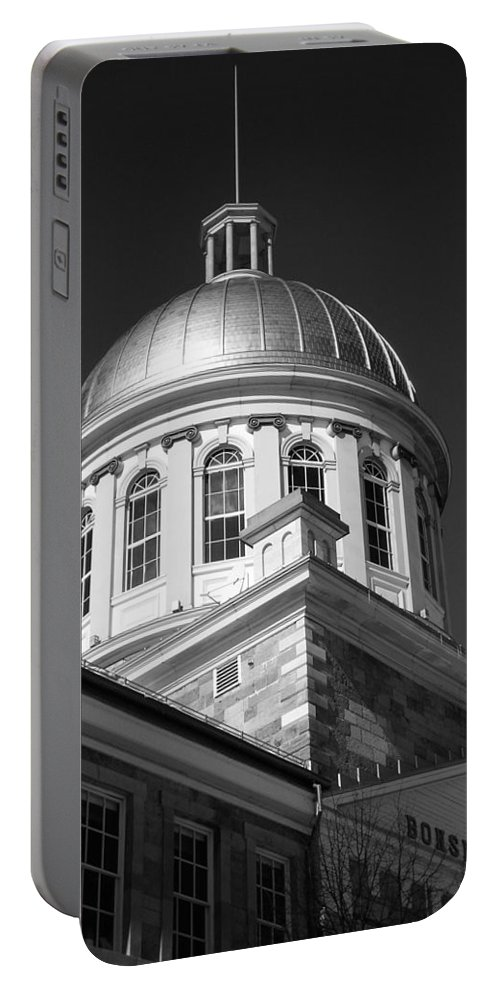 North America Portable Battery Charger featuring the photograph Marche Bonsecours by Juergen Weiss