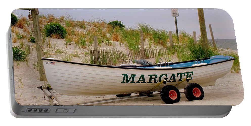 Beach Portable Battery Charger featuring the photograph Margate Beach by Arlane Crump