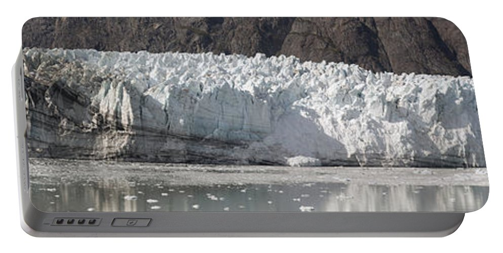 Margerie Portable Battery Charger featuring the photograph Margerie Glacier by Richard J Cassato
