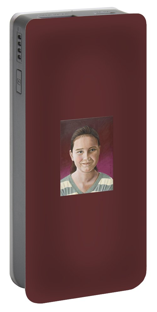 Portrait Portable Battery Charger featuring the painting Maria by Rob De Vries