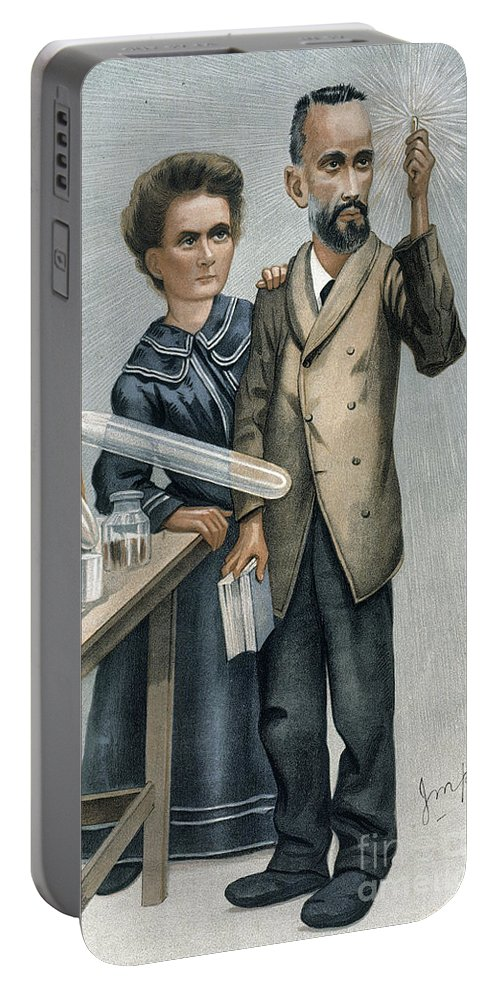 1904 Portable Battery Charger featuring the photograph Marie And Pierre Curie by Granger