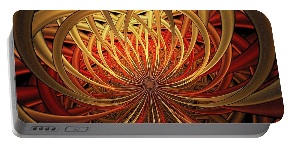 Digital Art Portable Battery Charger featuring the digital art Marigold by Amanda Moore