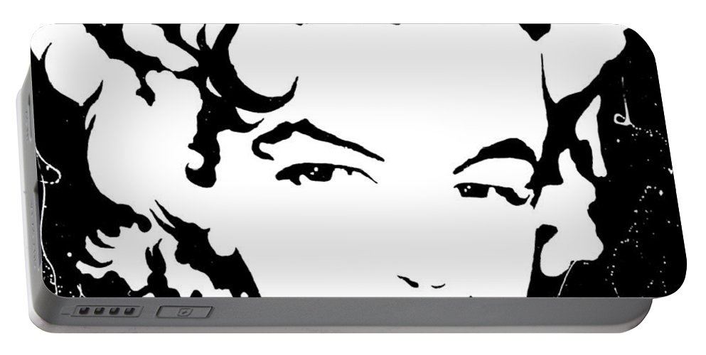 Portrait Portable Battery Charger featuring the painting Marilyn Monroe by Curtiss Shaffer