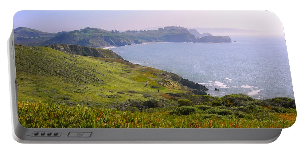 Landscape Portable Battery Charger featuring the photograph Marin Headlands 2 by Karen W Meyer