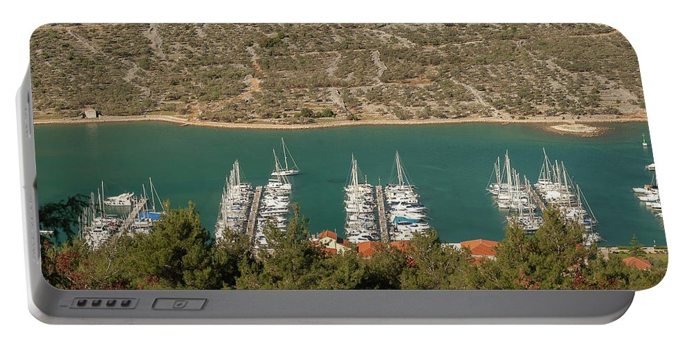 Adriatic Portable Battery Charger featuring the photograph Marina In Cres by Stefan Rotter