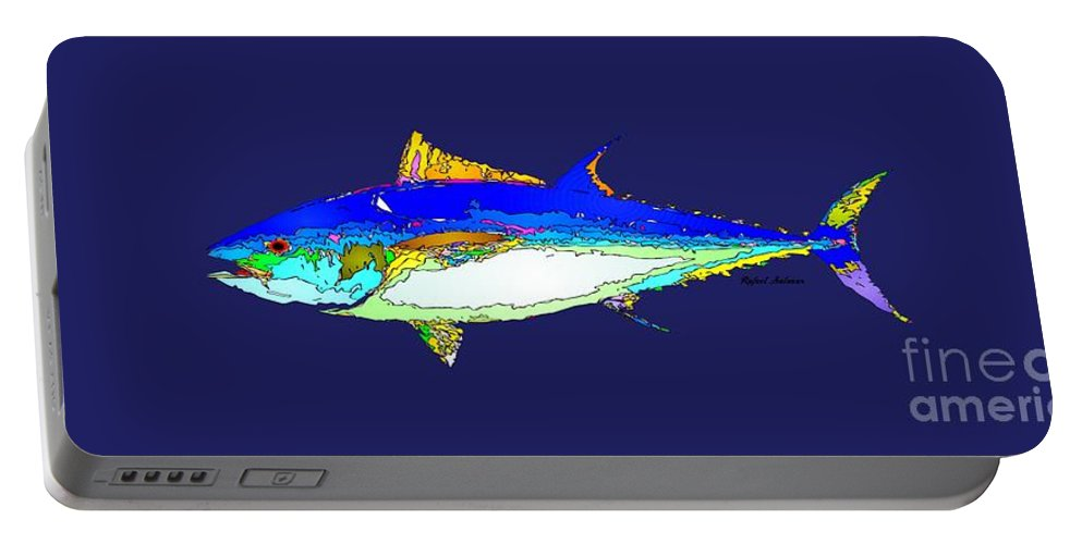 Fish Portable Battery Charger featuring the digital art Marine Life by Rafael Salazar