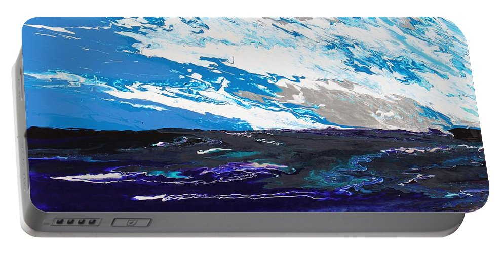 Fusionart Portable Battery Charger featuring the painting Mariner by Ralph White
