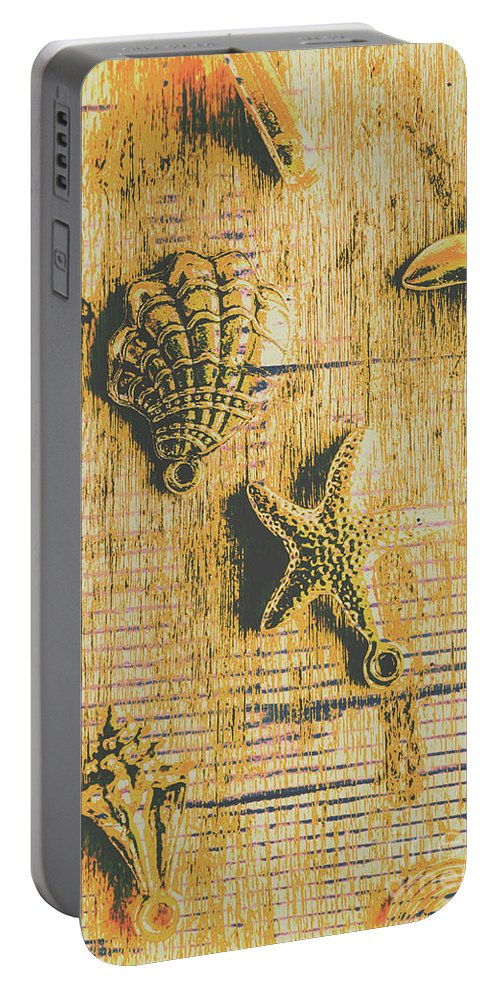 Sea Portable Battery Charger featuring the photograph Maritime Sea Scroll by Jorgo Photography - Wall Art Gallery