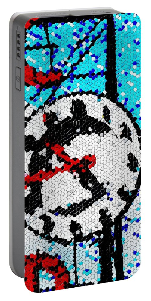 Seattle Portable Battery Charger featuring the digital art Market Clock Mosaic by Tim Allen