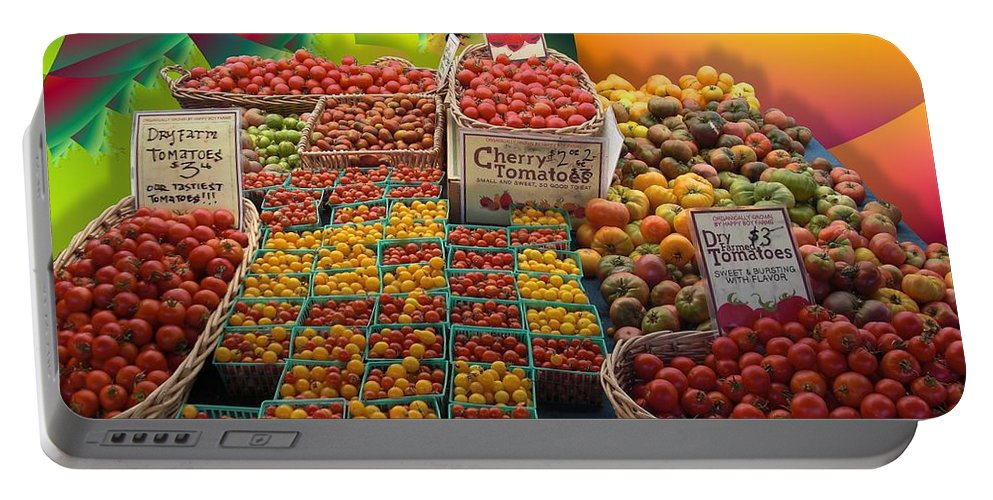 Fruit Portable Battery Charger featuring the photograph Market Still Life by Ron Bissett