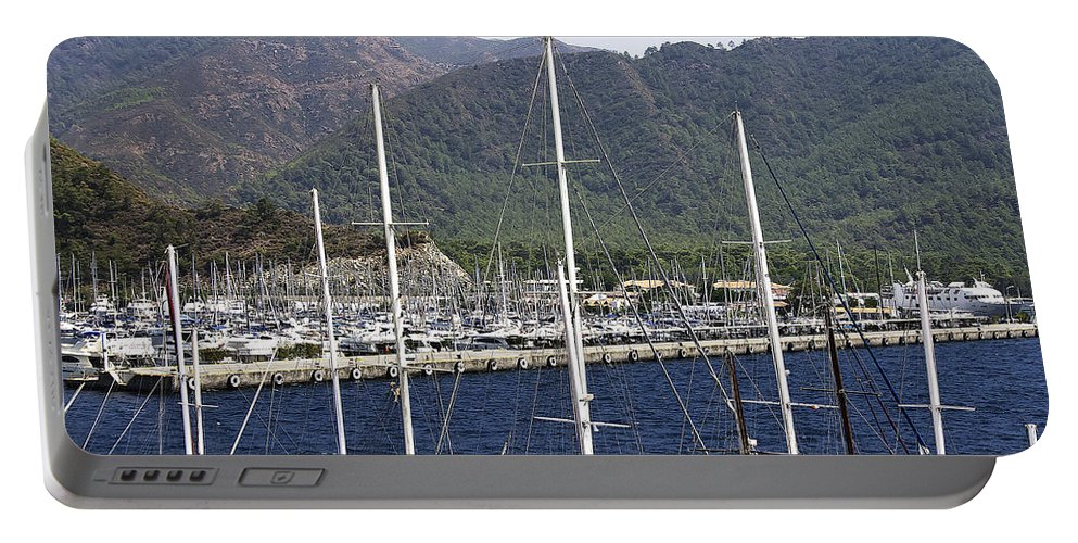 Boat Portable Battery Charger featuring the photograph Marmaris Port by Svetlana Sewell