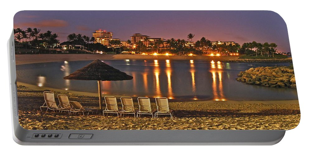 Marriott Portable Battery Charger featuring the photograph Marriott Lagoon by Michael Peychich