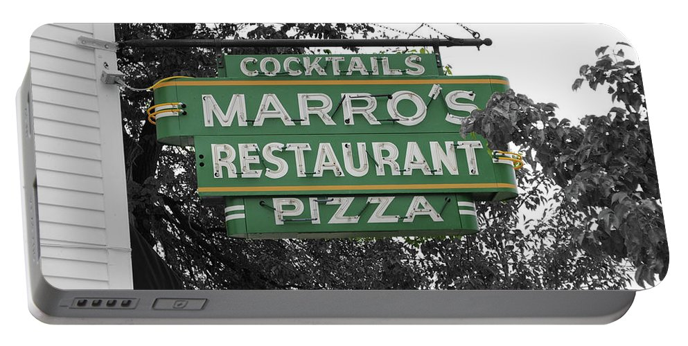 Marro's Portable Battery Charger featuring the photograph Marro's Restaurant by Jost Houk