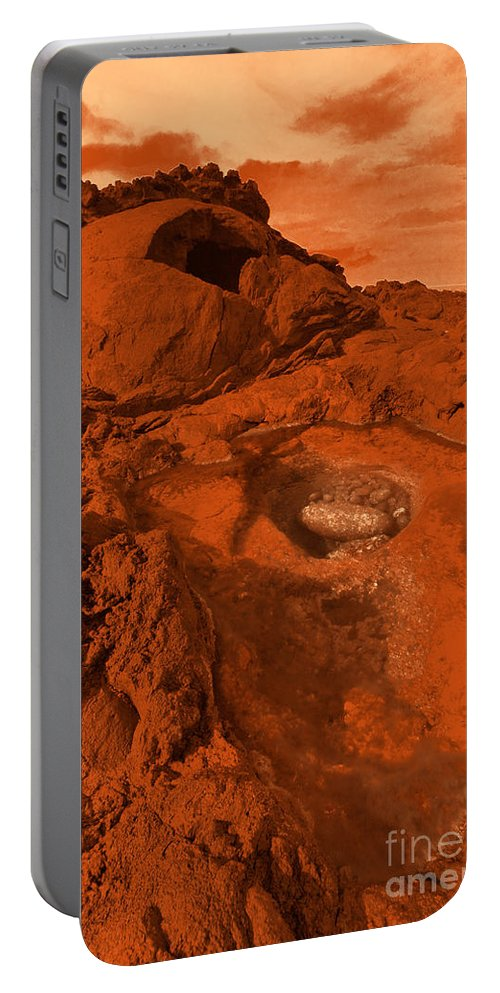 Alien Portable Battery Charger featuring the photograph Mars Landscape by Gaspar Avila