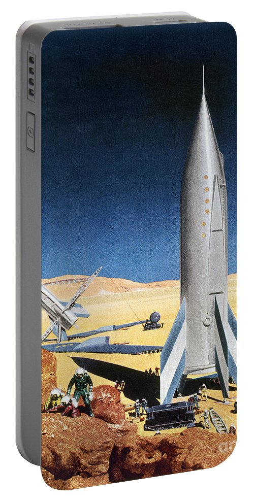 1950s Portable Battery Charger featuring the photograph Mars Mission, 1950s by Granger