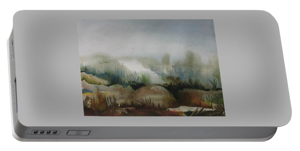 Marsh Portable Battery Charger featuring the painting Marsh by Anna Duyunova