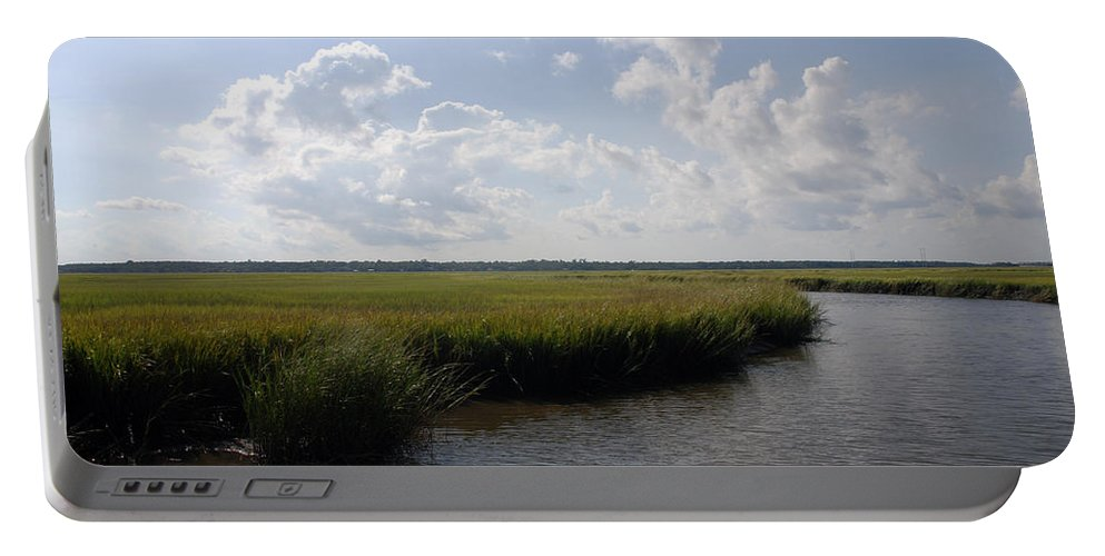 Photography Portable Battery Charger featuring the photograph Marsh Scene Charleston Sc II by Susanne Van Hulst
