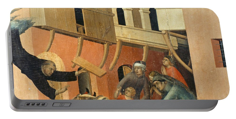 14th Century Portable Battery Charger featuring the painting Martini: St. Augustine by Granger