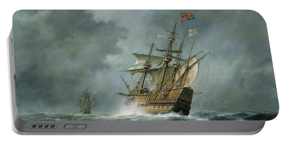 Mary Rose Portable Battery Charger featuring the painting Mary Rose by Richard Willis