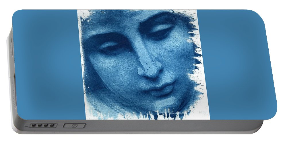 Blue Portable Battery Charger featuring the photograph Marys Blues by Jane Linders