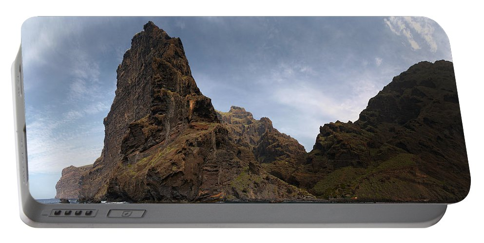 Valasretki Portable Battery Charger featuring the photograph Masca Valley Entrance Panorama by Jouko Lehto