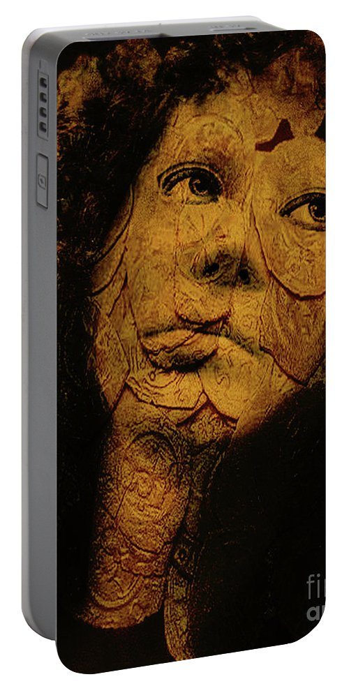 Portraits Portable Battery Charger featuring the photograph Mask 7 by John Anderson