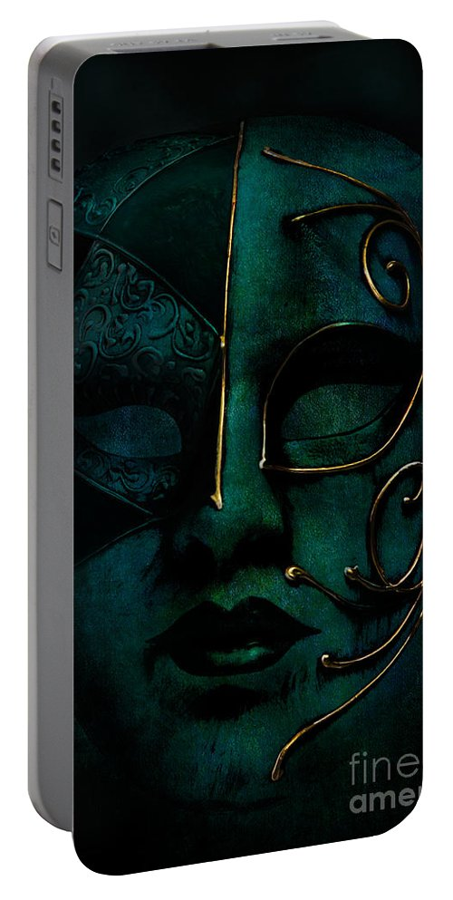 Mask Portable Battery Charger featuring the photograph Masquerade by Ann Garrett