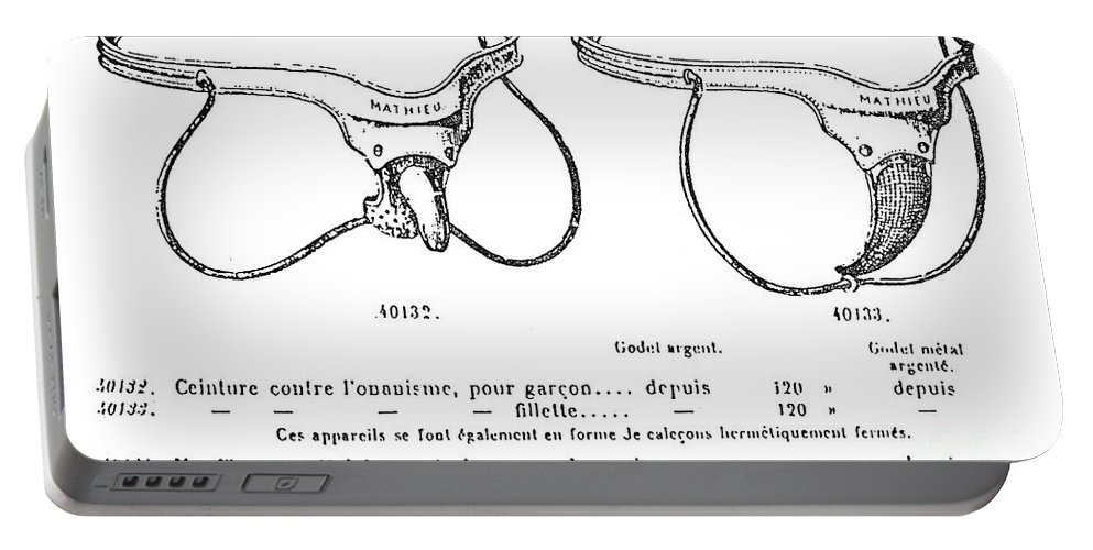 1904 Portable Battery Charger featuring the photograph Masturbation Device by Granger