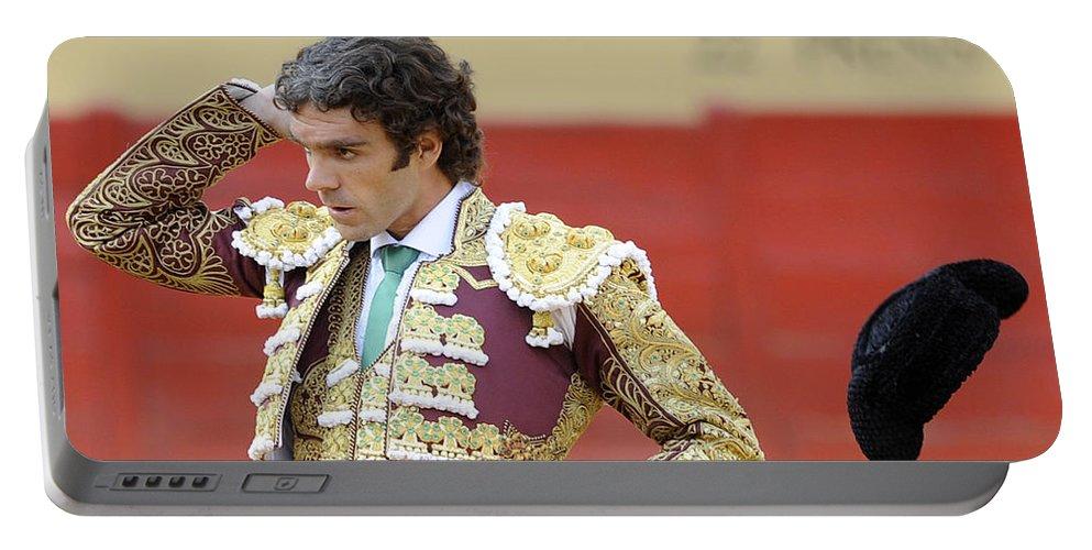 Spain Portable Battery Charger featuring the photograph Matador Jose Tomas IIi by Rafa Rivas