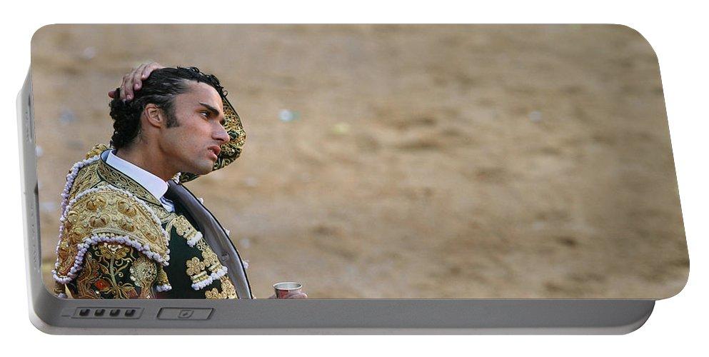 Spain Portable Battery Charger featuring the photograph Matador Matias Tejela II by Rafa Rivas