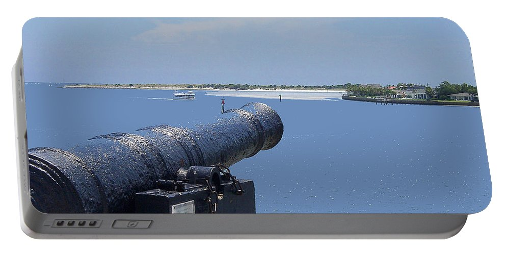 Landscape Portable Battery Charger featuring the photograph Matanzas Inlet by Kenneth Albin