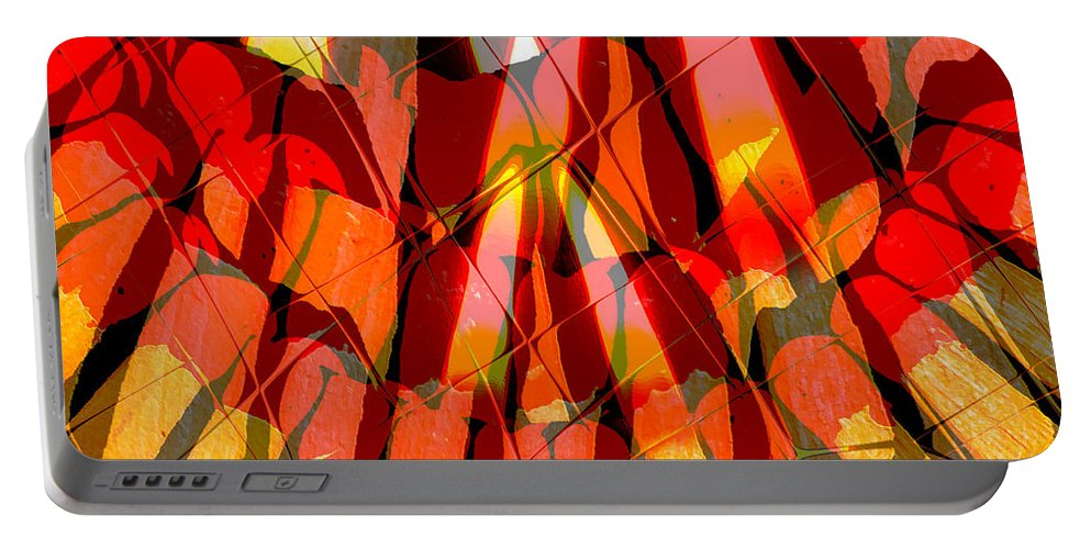 #matchbox #digital Art #phil Gennuso Portable Battery Charger featuring the digital art Matchbox by Philip Gennuso