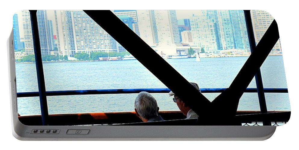 Toronto Portable Battery Charger featuring the photograph Mature Love by Ian MacDonald