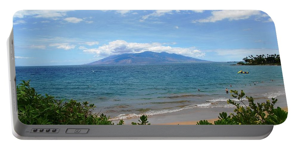 Maui Beach Portable Battery Charger featuring the photograph Maui Beach by Christine Owens