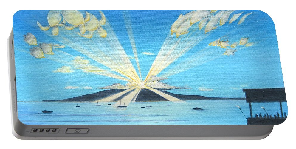 Maui Portable Battery Charger featuring the painting Maui Magic by Jerome Stumphauzer
