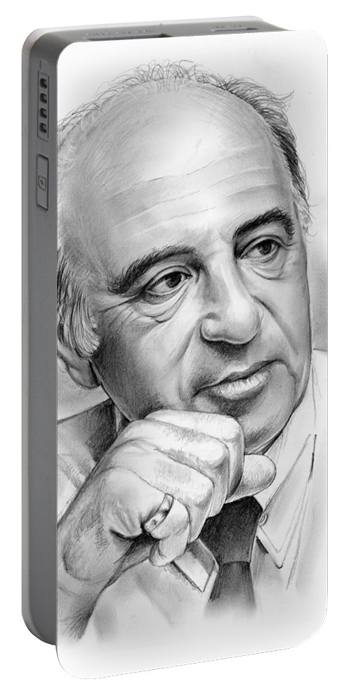 Max Heller Portable Battery Charger featuring the drawing Max Heller by Greg Joens