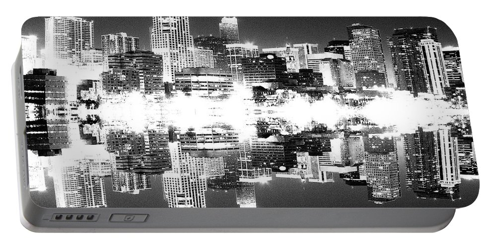 Cityscape Portable Battery Charger featuring the photograph Maxed Cityscape by Angus Hooper Iii