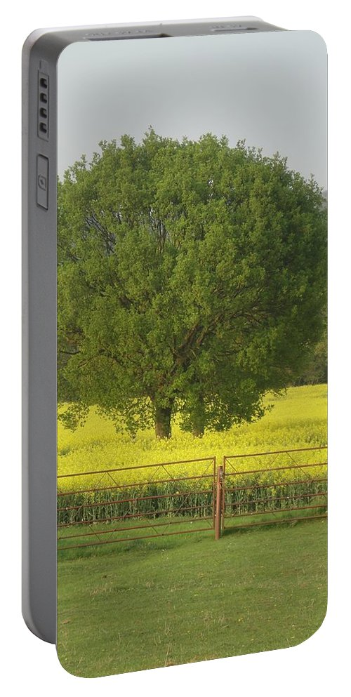 Tree Portable Battery Charger featuring the photograph May Fields by Susan Baker
