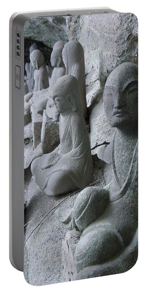 Statues Portable Battery Charger featuring the photograph May I Help You by D Turner