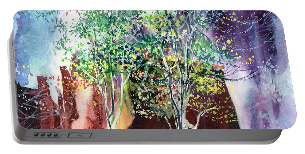 Nature Portable Battery Charger featuring the painting Maya by Anil Nene