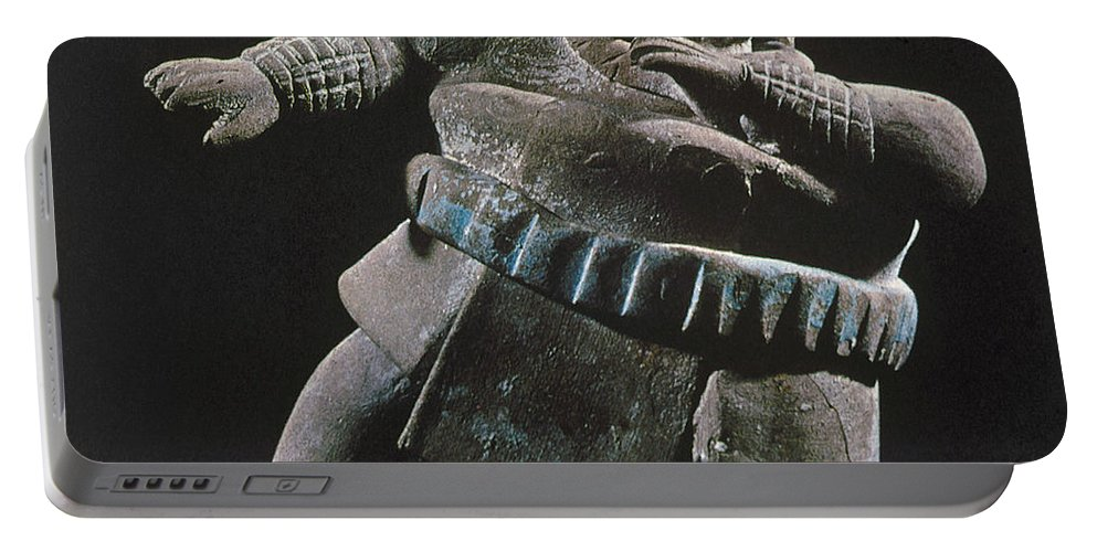 8th Century Portable Battery Charger featuring the photograph Mayan Athlete, 700-900 A.d by Granger