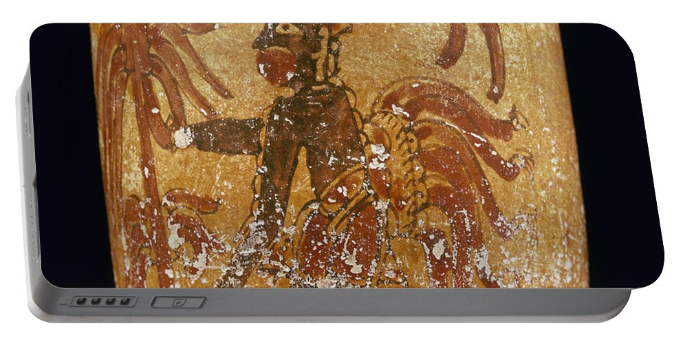 10th Century Portable Battery Charger featuring the photograph Mayan Priest 700-900 Ad by Granger
