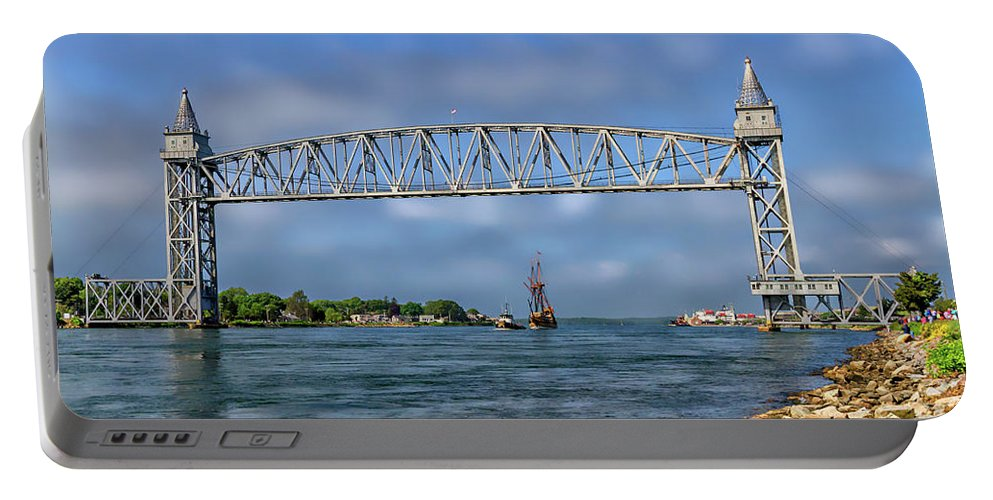 Buzzards Bay Ma Portable Battery Charger featuring the photograph Mayflower Ll Tugged by Larry Richardson